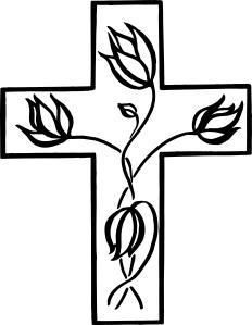 Resurrection Easter cross flowers