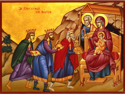 Visit of Magi Icon