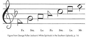 Sacred Harp notes