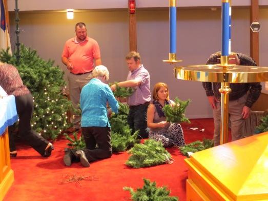 Christmas Tree 2014 set up more work