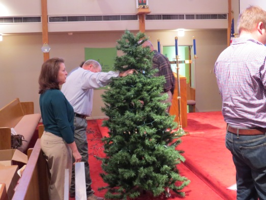 Christmas Tree 2014 set up tree top
