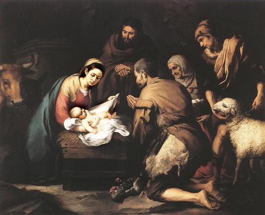 Nativity Sacred Art NatShepherdMurillo