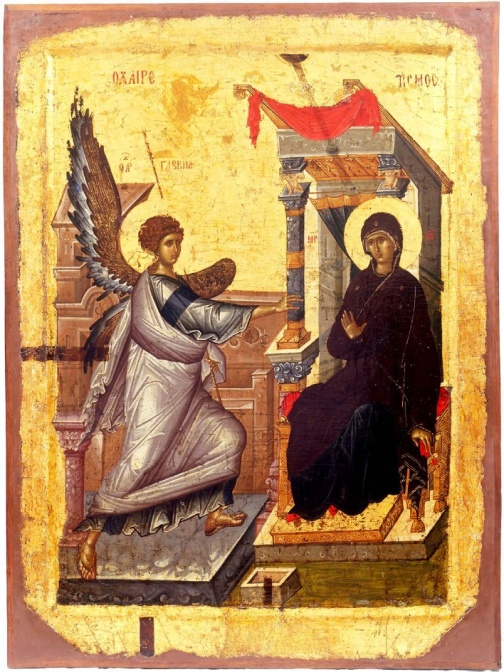 Annunciation,_Early_XIV_Century,_St_Mary_Perivleptos_Church,_Ohrid_Icon_Gallery