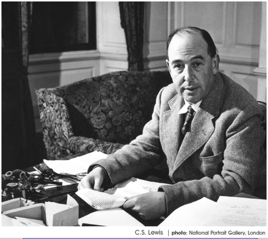cs-lewis at desk