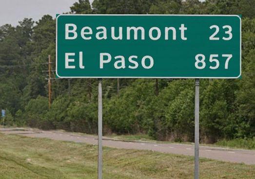 Mileage Texas to El Paso