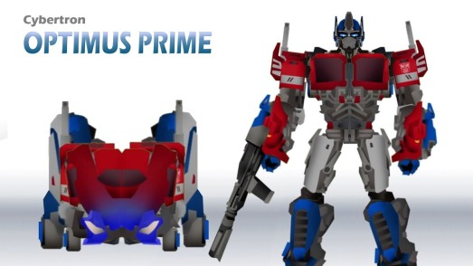 Transformers Optimus Prime forms