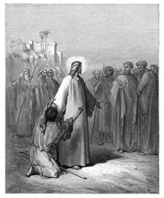 Dore Jesus protecting woman John 8