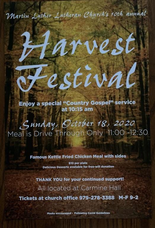 Harvest Festival 2020 Flier